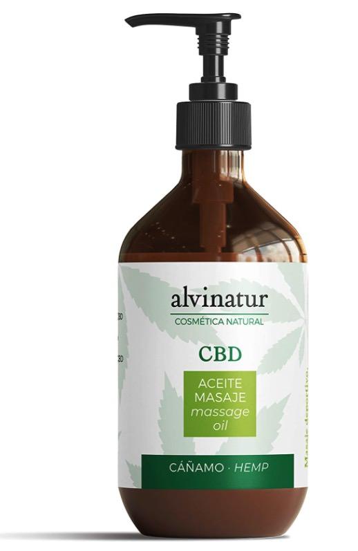 Aceite de masaje con CBD de Alvinatur