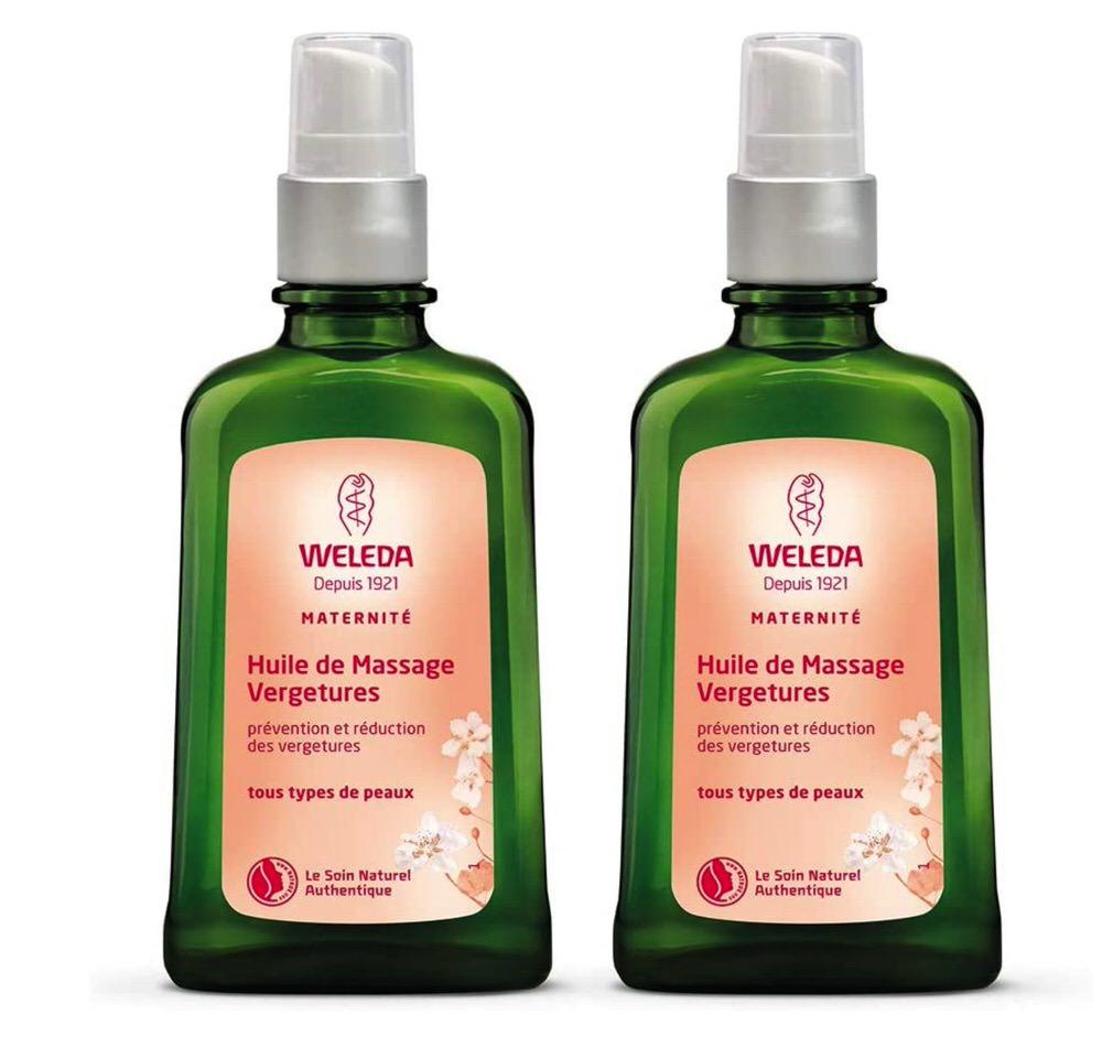 Aceite de masaje antiestrías para madres de Weleda