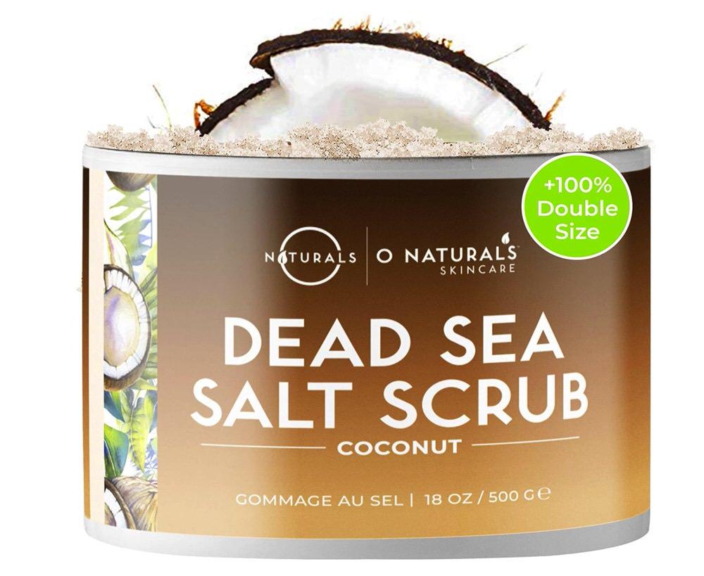 Exfoliante con aceite de coco y sal del mar muerto anticelulítico de O Naturals