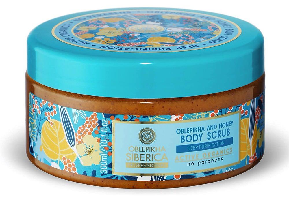 Exfoliante corporal de Oblepikha y miel de Natura Siberica