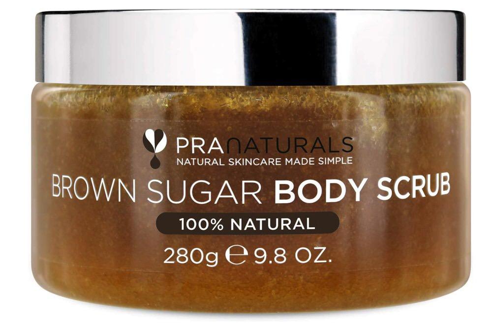 Exfoliante de azúcar moreno de PraNaturals, ideal para el cuerpo