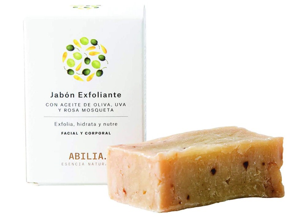 Jabón exfoliante natural suave de Abilia