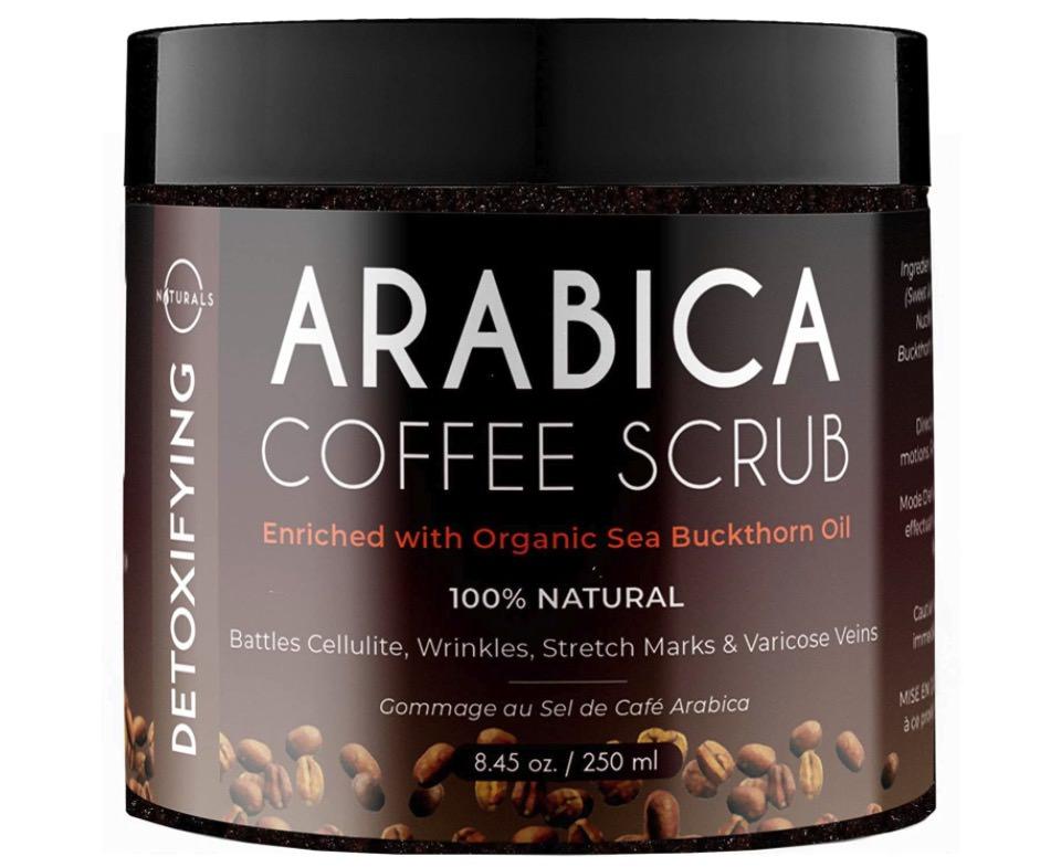 xfoliante facial natural de café arábica de O Naturals