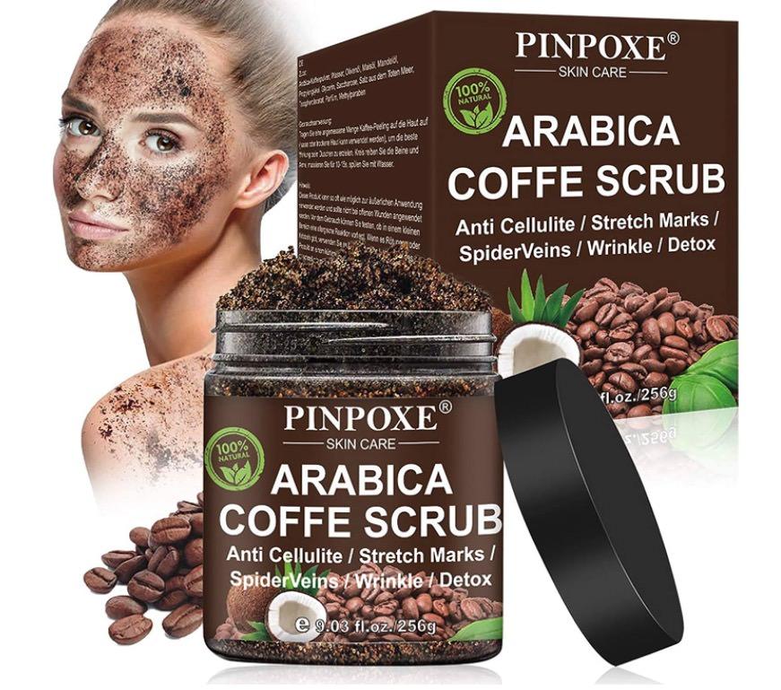 Exfoliante corporal natural de café de Pinpoxe