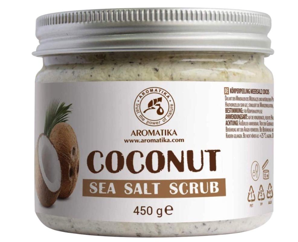 Exfoliante corporal de coco y sal marina de Aromatika