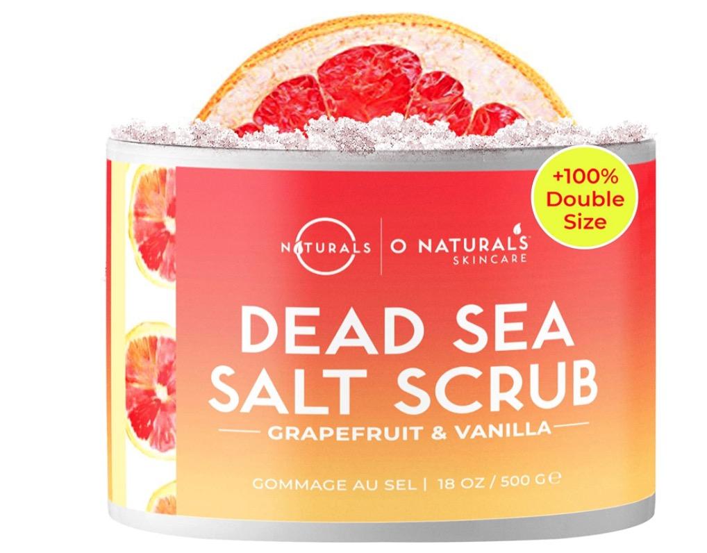 Exfoliante natural de sal del mar muerto con pomelo