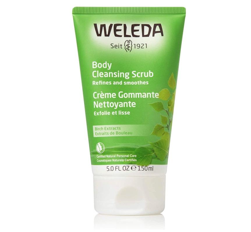Exfoliante corporal de abedul de Weleda