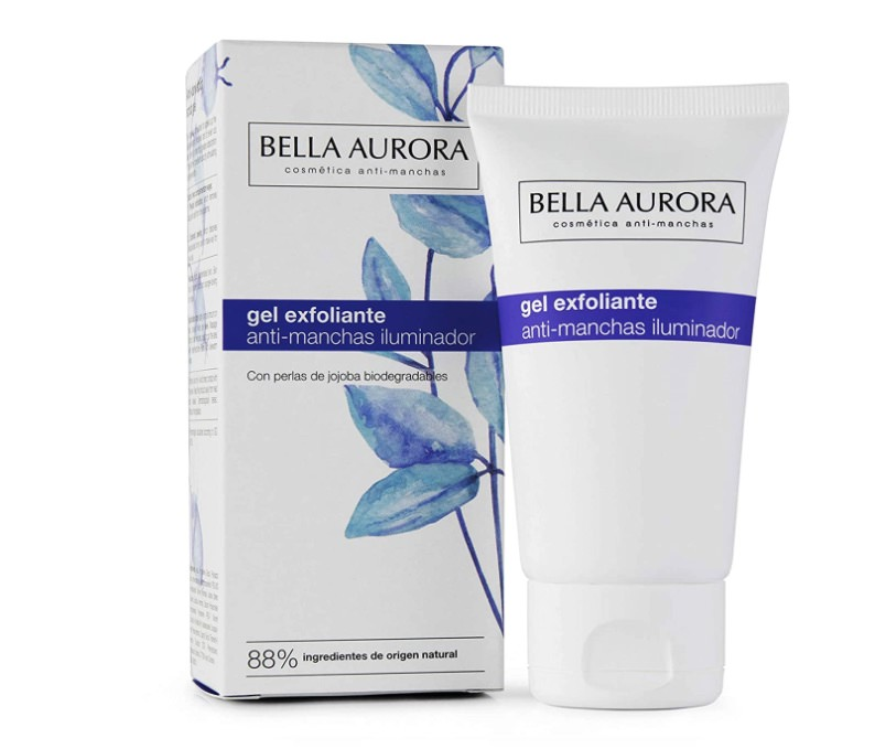 Gel exfoliante facial anti manchas de Bella Aurora